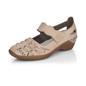 Beige High Heel Mary Jane 48369-60