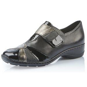 Black Combination Velcro Shoes 58361-00