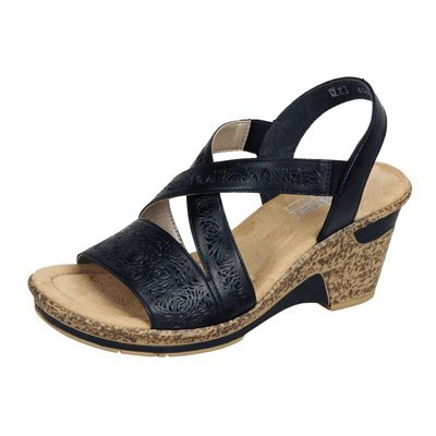 Black Wedge Sandal 60654-00