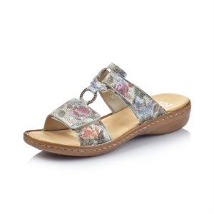 White / Multi Slipper Sandal 60885-90