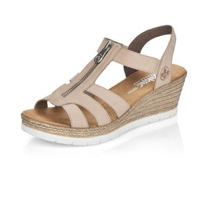 Grey Wedge Heel Sandal 619C1-60