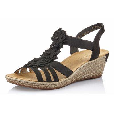 Black Wedge Sandal 62461-00