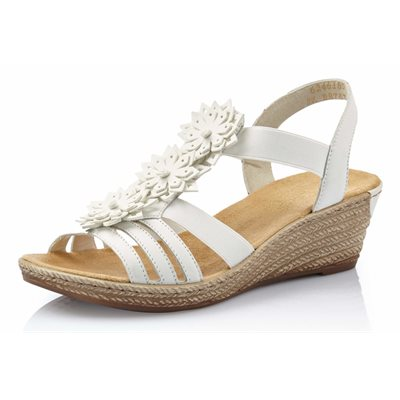 White Wedge Sandal 62461-80