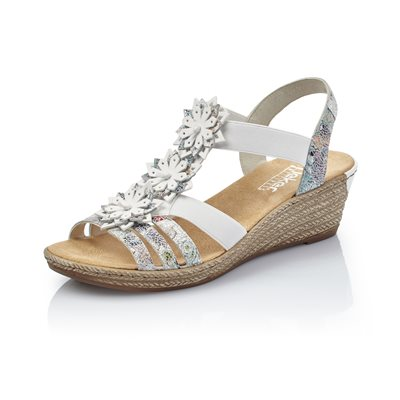 White Multi Wedge Sandal 62461 91
