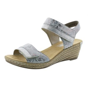 Metallic Wedge Sandal 62470-91