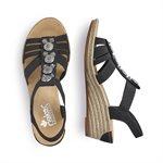 Black Heel Sandal 624B4-00
