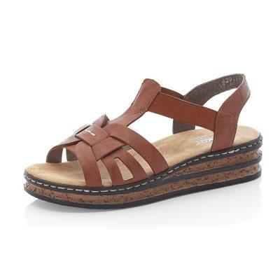 Sandale plateforme Brun 62918-22
