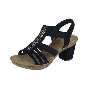 Sandale Talon, Noire 66584-00