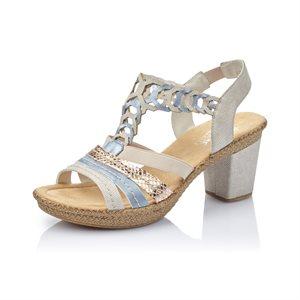 Grey / Multi High Heel Sandal 66593-60