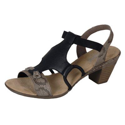 Black Heel Sandal 67360-64