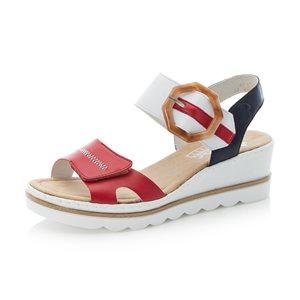Red Wedge Heel Sandal 67476-33