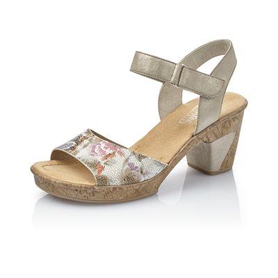 White-Multi Heel Sandal 69789-90