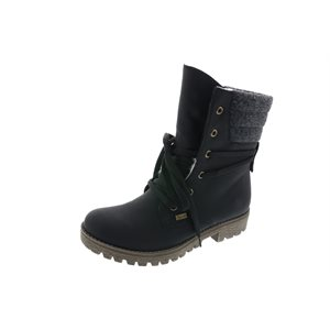 Black Lace Waterproof Winter Boot
