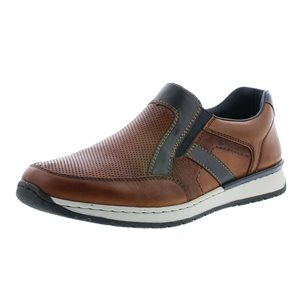 Brown and Blue Sport Loafer B5160-25