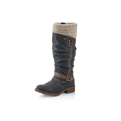 Black Winter Boot D1786-02