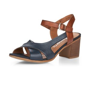 Sandale à talon haut Bleu / Brun D2151-14