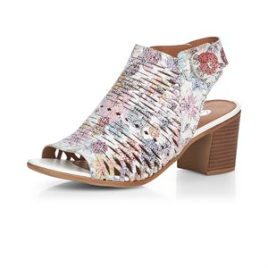 White / Multi High Heel Sandal D2170-90