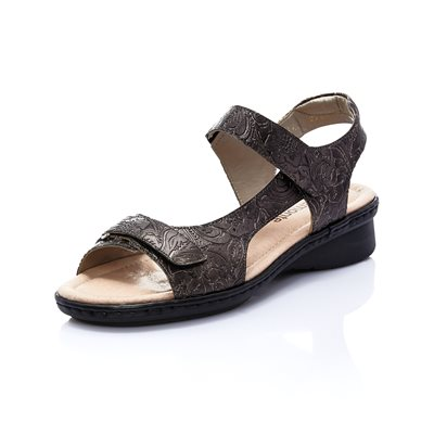 Black Adjustable Sandal D2756-90