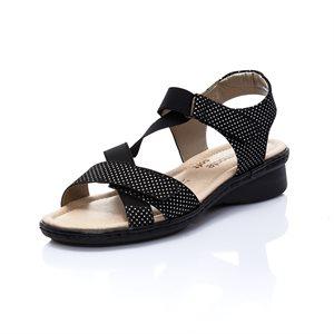 Black Adjustable Sandal D2757-02
