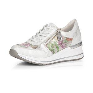 White / Multi Laced Shoe D3201-90