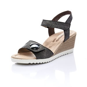 Black Wedge Sandal D3464-02