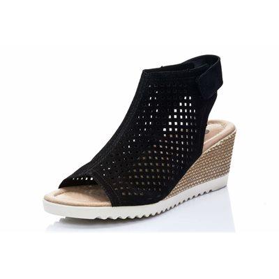 Black Wedge Sandal D3470-02
