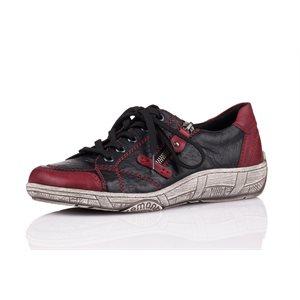 Black Combination Orthotic Friendly Shoes D3808-01