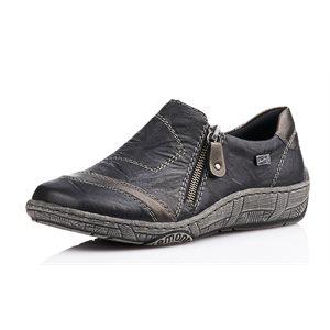 Black Orthotic Friendly Loafer D3809-02
