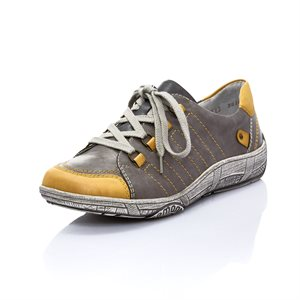 Grey / Yellow Combo, Orthotic Friendly Shoes D3810-45