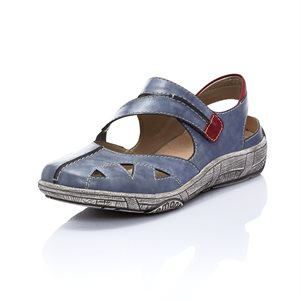 Blue Orthotic Friendly Sandal Shoe D3814-14