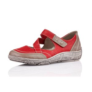 Red Orthotic Friendly Shoes D3817-33
