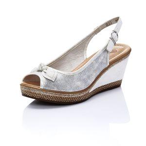 Silver Wedge Sandal D4528-90
