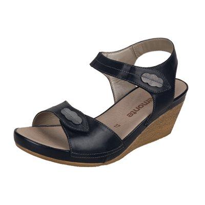 Black Wedge Sandal D4856-01