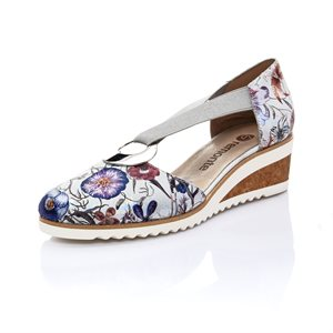 Multi Color Wedge Sandal Shoe D5502-90
