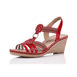 Red Wedge Sandal D6768-33