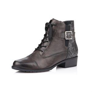 Grey Heel Bootie D6875-40