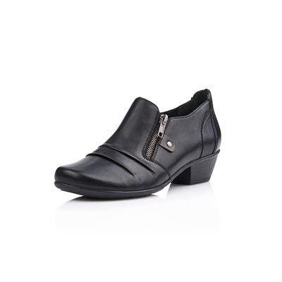 Black Orthotic Friendly Heel Shoes D7310-01