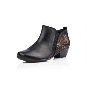 Black Orthotic Friendly Heel Shoes D7364-02