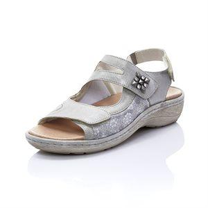 Sandale Ajustable, Argent D7647-90