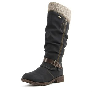 Black Waterproof Winter Boot D8076-02