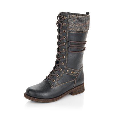 Black Waterproof Winter Boot D8077-02