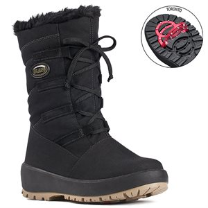 Black boot with pivoting grip Nora