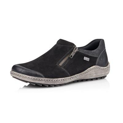 Black Orthotic Friendly Loafer R1403-02