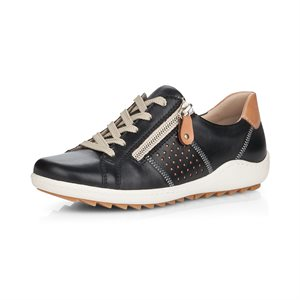 Black Orthotic Friendly Shoes R1417-01