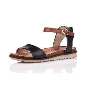 Black Sandal, Flat Heel, R2752-01