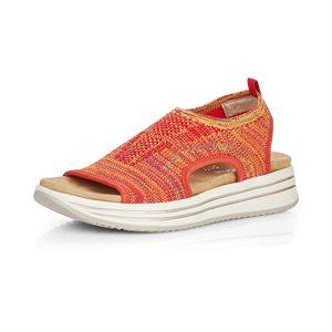 Orange Platform Sandal R2955-38