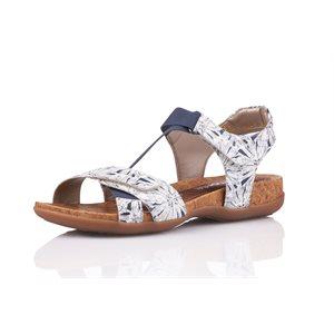White and blue Adjustable Sandal R3257-81