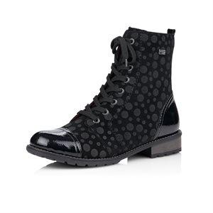 Black / Pattern Bootie R3309-02