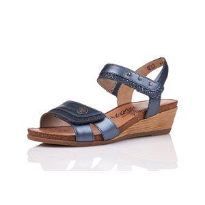 Sandale à Talon Bleu Métallique R4450-14