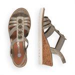 Grey Wedge Heel Sandal R6256-90